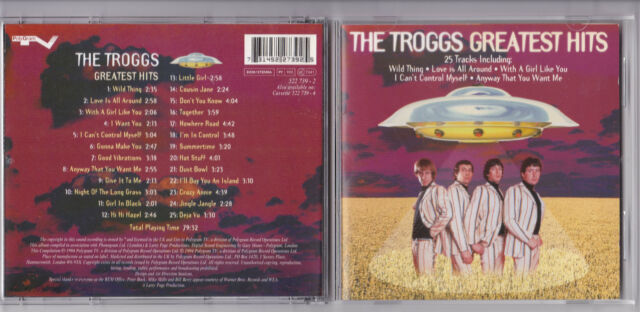 THE TROGGS -Greatest Hits- CD Spectrum Music Records near mint