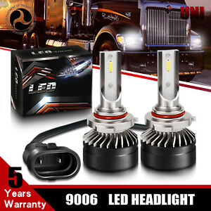 2x-9006-HB4-CSP-White-LED-Headlight-Kit-Bulb-6500K-High-Power-For-Mack-CXU-Truck