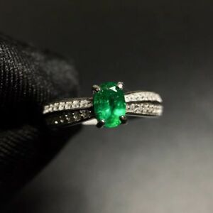 Gorgeous-Natural-Colombian-Emerald-and-Diamond-Ring-Sterling-Silver-925k