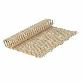 Set of 6 Bamboo Sushi Rolling Mats 9-1//2 Inches Square