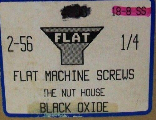 "100//250//500 #2-56 X 1//4/"" PHILLIPS FLAT HEAD MACHINE SCREW 18-8 SS BLACK OXIDE NH"