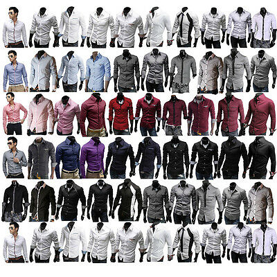 New 2016 Mens Awesome Formal Casual Slim-Fit Dress Shirt-All Styles Collection
