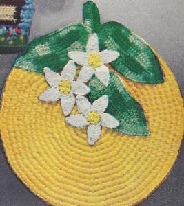 Vintage-Crochet-PATTERN-Pot-Holder-Orange-Blossom-Flowe