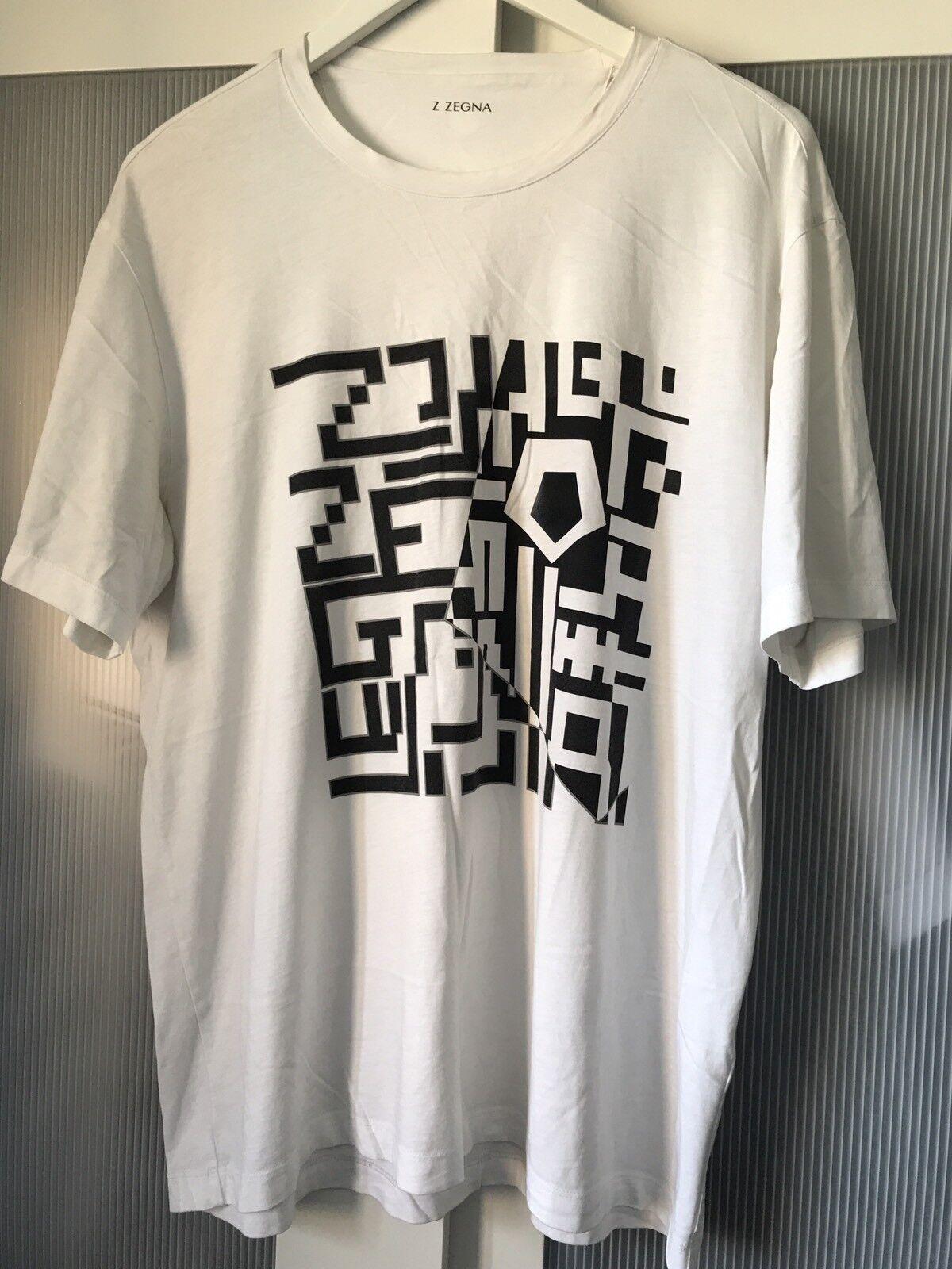 Zegna men  tshirt top size L 100% authentic ultra rare