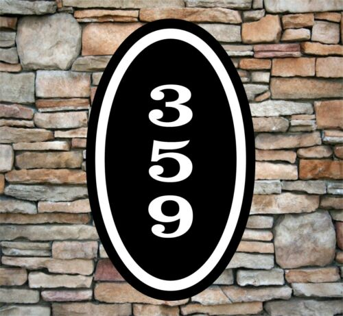 """Personalized Home Address Sign Aluminum 12/"""" x 7/"""" Custom House Number Plaque OV3"""
