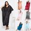 miniature 2 - Women Plus Size Kaftan Satin Caftan Long Maxi Dress Kimono Sleeve Evening Gown