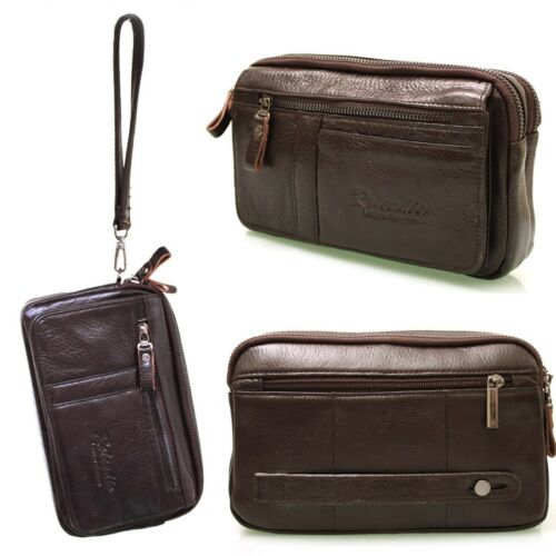 New Genuine Leather Men/'s Business Wallet Purse Small Handbag Bag-094