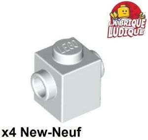 Lego 4x Brique Brick Modified 1x1 Studs on 2 Sides gris foncé//db gray 47905 NEUF