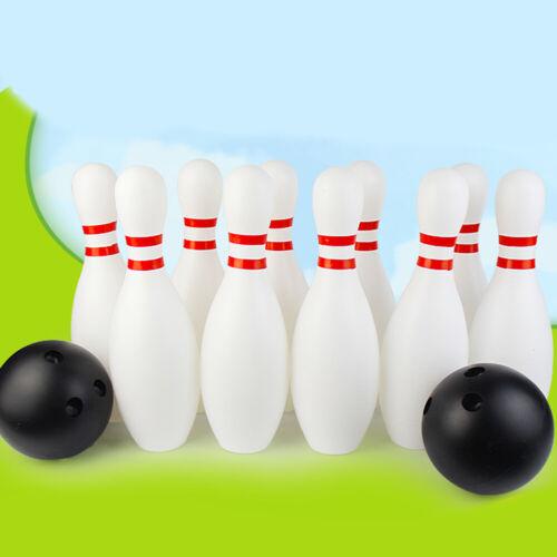 Kids Children Large Bowling Set 10 Pin Skittle 2 Ball Indoor Summer Fun Toy Game