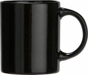 Argos Home Set of 6 Porcelain Mugs 300ml - Black