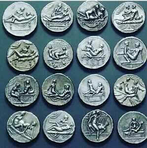 Ancient-Roman-Empire-Coins-Caligula-Erotic-Brothel-16-Coins-Set