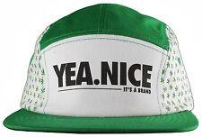 Yea Nice Planted Plantlife Weed Marijuana 5 Panel Strapback Baseball Cap Hat NWT