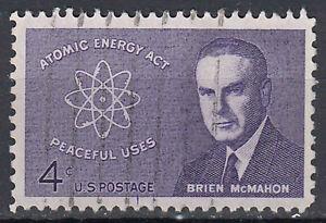 Estados unidos sello con sello 4c Atomic Energy Act Brien McMahon/1818
