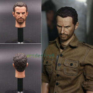 """1//6 Male Head Sculpt Ed Harris Enemy at the Gates Carved Model F 12/"""" Figure Body"""