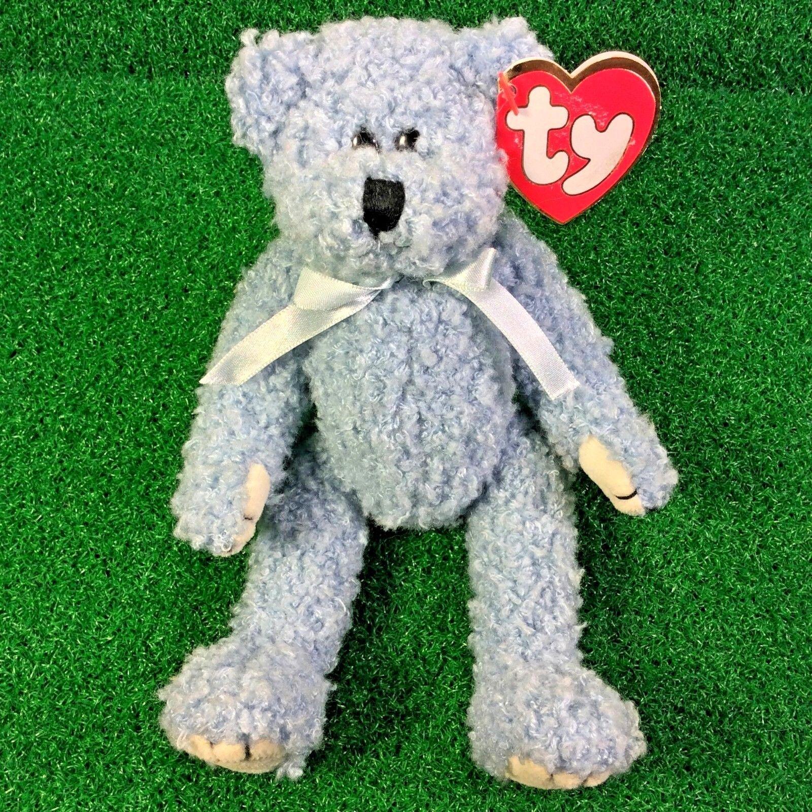 Sällsynta Ty Attic Treasures blåbearery The Bear Pensioned JoInted Plush leksak MWNMT