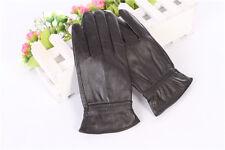 Women GENUINE LAMBSKIN soft leather warm winter gloves with soft velvet lining