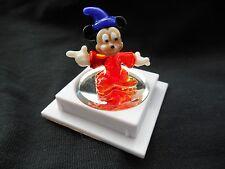 Walt Disney World Arribas Glass Sorcerer Mickey Mouse Figurine