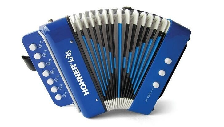 Kids Accordion Musical Instrument Seven Button Playing 2 Bass Christmas Gift NEW
