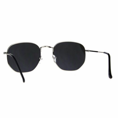 Designer Fashion Sunglasses Thin Metal Hexagon Shape Mirror Lens UV 400