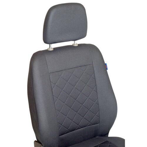 Grauer Sitzbezug für OPEL VIVARO Autositzbezug VORNE NUR FAHRERSITZ