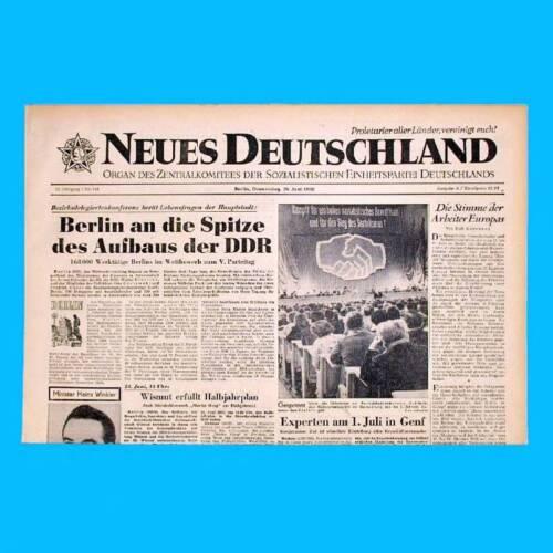 62 63 65 SED 66 64 DDR Neues Deutschland Mai 1958 Geburtstag Hochzeit 61