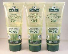 Aloe Pura Orgánico Gel Aloe Vera 200ml TRES TUBOS