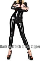 SEXY SHINY CATSUIT GANZANZUG OVERALL IM LACK LEDER WETLOOK DOMINACATSUIT TOPLESS