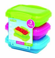 Sistema Klip It 3 By 6.7-ounce Containers, 3-pack, Blue/pink/green , New, Free S