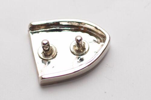 Spitze Silber Mittelalter Gürtelschnalle mit Schlaufe Ritter 30 mm ca