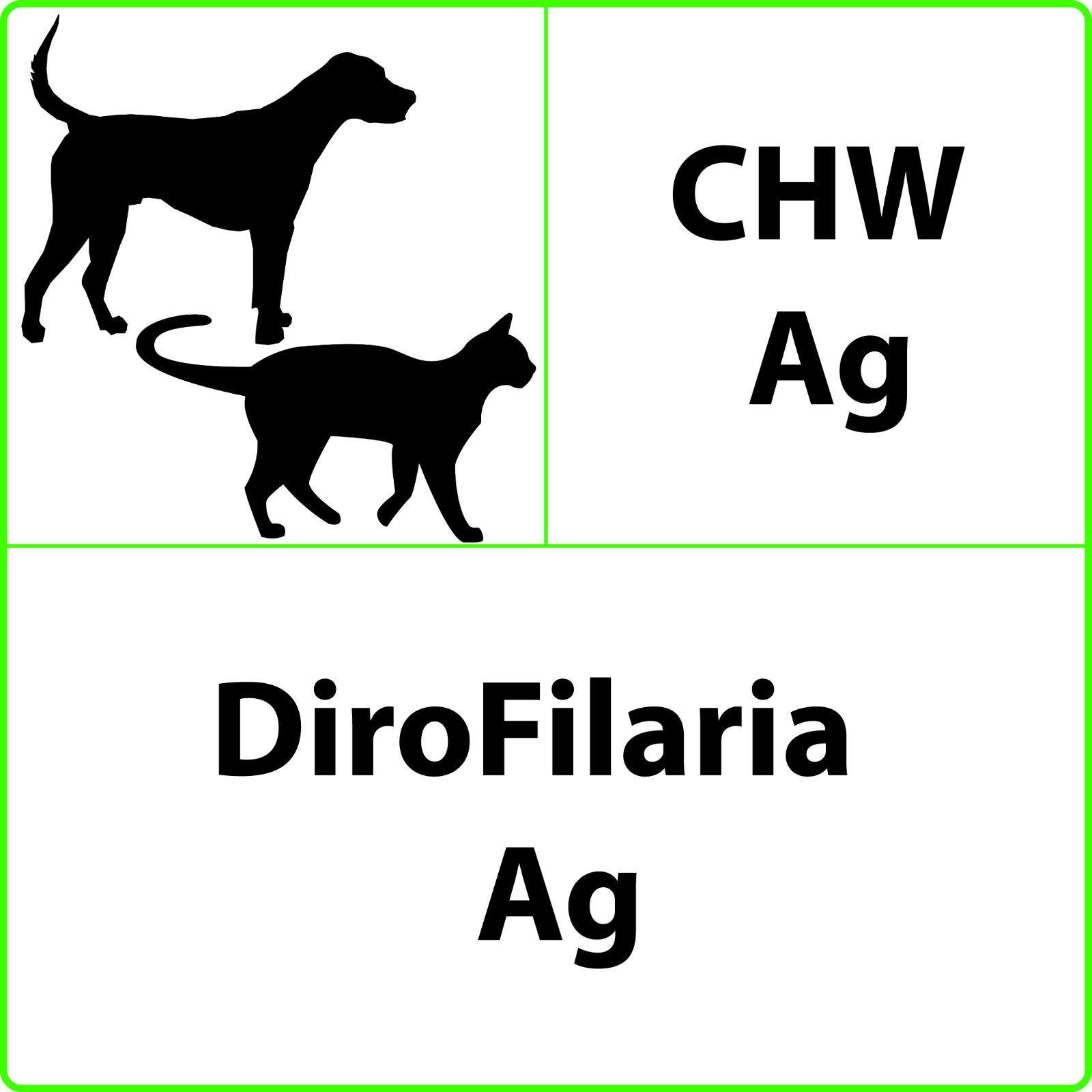 DIROFILARIA Test rapido veterinario - CHW - 5 test - Scadenza 05-2020