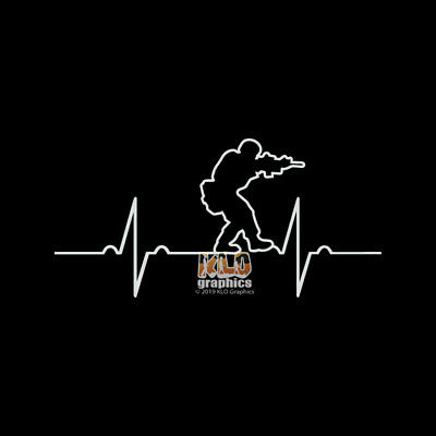 NAVY SEAL HEARTBEAT Vinyl Sticker ARMY Military SWAT Police MARINES Spec Ops