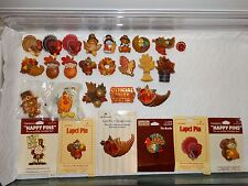 Vintage Hallmark Pins Lot of Fall Autumn Thanksgiving Lapel Pins Brooches CHOICE