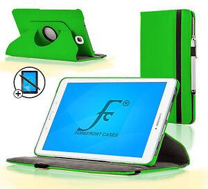 Piel-Verde-Giratorio-Funda-Samsung-Galaxy-Tab-Dell-9-6-Protector-de-Pantalla