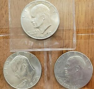 3-Different-Eisenhower-Ike-Dollars-Check-It-Out-AA086-1