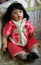 "Celia doll company oriental porcelain doll. 20"" tall. Limited edition 78/200"