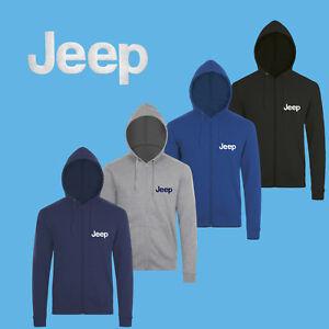 JEEP-Sudadera-Capucha-BORDADO-Auto-Logo-Cremallera-Chaqueta-Hoodie-Hoody-Hombre