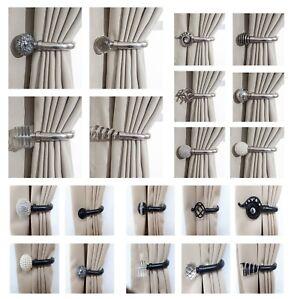 Image Is Loading Home Harmony Decorative Pair Of Curtain Holdbacks Wall