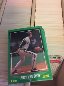 Details About 1988 Score Baseball Card Lot 500 Different Cards Starter Set Nrmt Condition