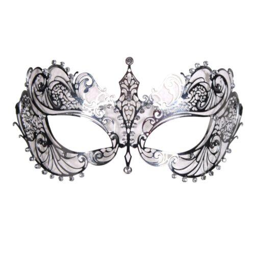Kostüm Zubehör Metall Maske mit Strass Karneval THE