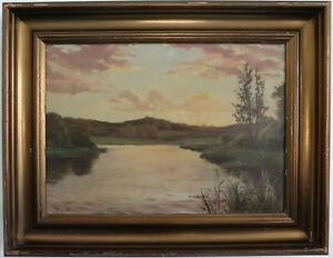Summer-Landscape-on-the-River-Harald-Pryn-Romantics-1-half-20-Jh-Signed