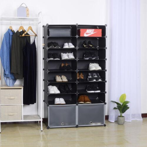 Schuhständer Schuhregal Steckregal Regalsystem Schuhablage mit Tür SR0053sz-TR