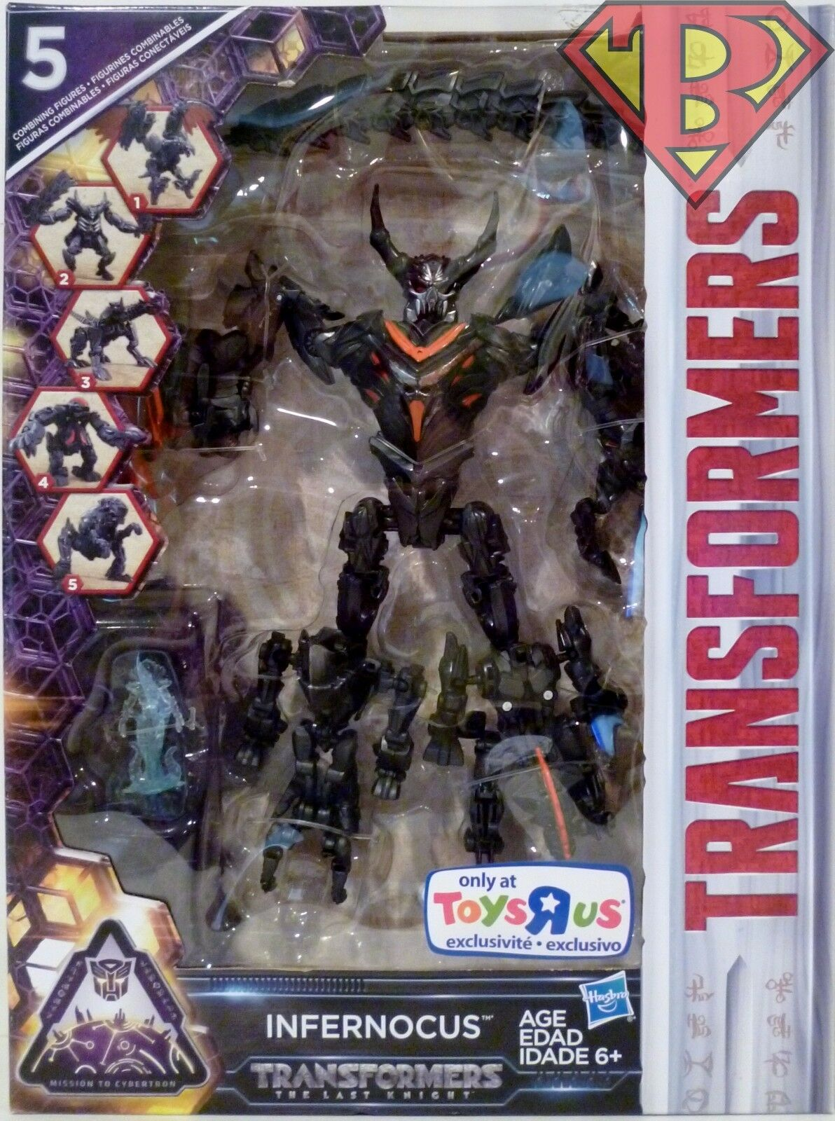 INFERNOCUS w  QUINTESSA Transformers Last Knight 5 Figure Combiner Set TRU 2017