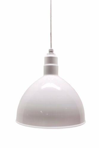 Barn Lighting white Deep Bowl Pendant 20 Inch RLM Dome