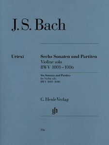 Details about JS Bach Sonatas and Partitas BWV 1001-1006 Sheet Music Violin  Solo NEW 051480356