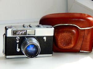 RARE-Zorki-7-DROOG-FRIEND-USSR-Film-Camera-copy-Leica-w-s-lens-JUPITER-8-AS-IS