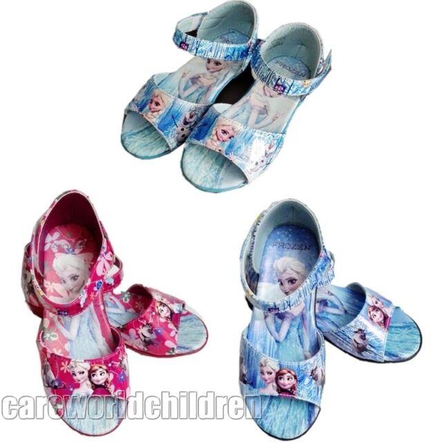 Elsa Anna Frozen Cosplay Shoes Girls Kids Shoe Casual Sandal UK Size 7 8 9 10 11
