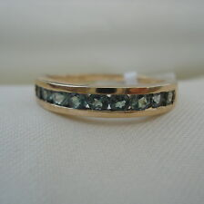 0.75ct Natural Alexandrite Half Eternity Gold Band Ring