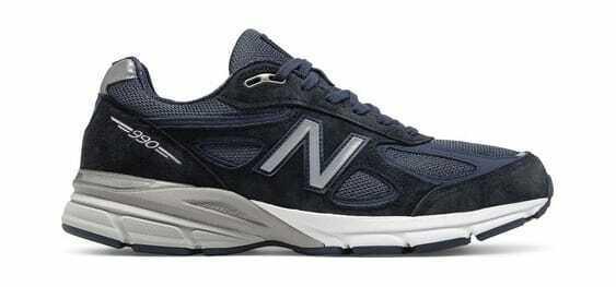 New Para Hombre Zapato de correr 990v4 Balance Azul Marino Plateado