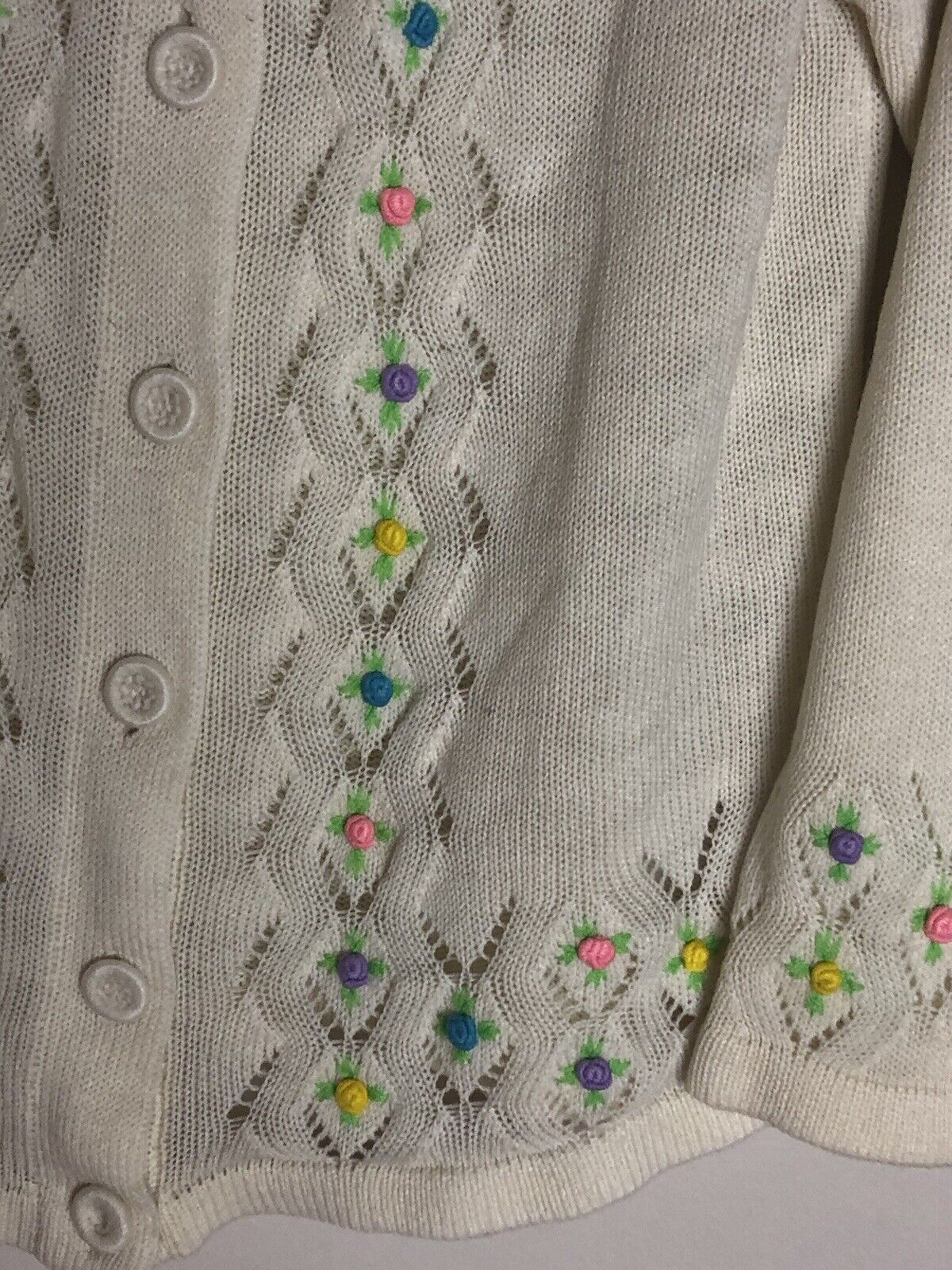 Vintage Cottagecore Fairycore Embroidered Floral … - image 3