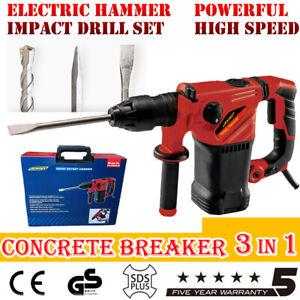 1300w Electric Demolition Jackhammer Jack Hammer Concrete Drill Breaker Kit